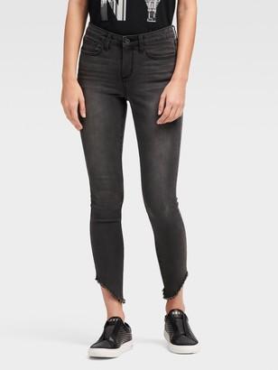 DKNY High-rise Skinny Ankle Jean - Asymmetrical Hem