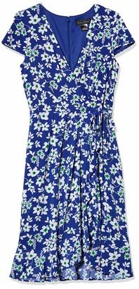 Jessica Howard JessicaHoward Women's Cap Sleeve Surplus Dress with Cascading Ruffle Skirt