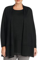 NIC and ZOE Plus Chiffon Hem Cardigan