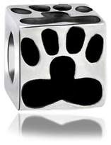 Bling Jewelry Sterling Silver Dog Paw Print Bead Animal Charm Fits Pandora