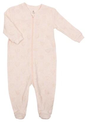 Gertex Dream Velour Burnout Sleeper - Newborn - Pink
