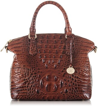 Brahmin 'Medium Duxbury' Croc Embossed Leather Satchel