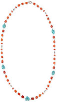 "Stephen Dweck Long Turquoise-Station Beaded Necklace, 42""L"