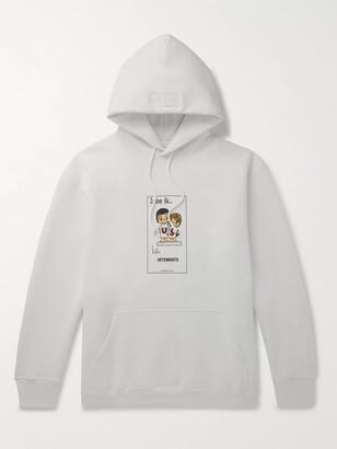 Vetements Printed Fleece-Back Cotton-Blend Jersey Hoodie