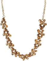 Charlotte Russe Clustered Gemstone Bib Necklace
