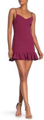 1 STATE Ruffle Hem Mini Dress