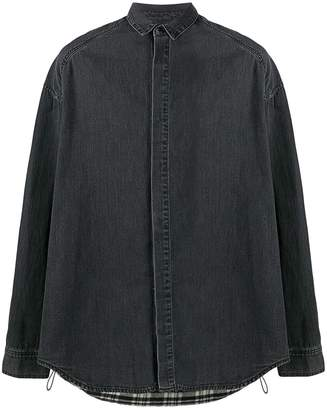 Juun.J plaid detailed shirt jacket