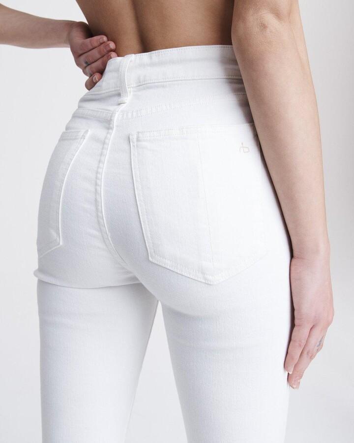 Thumbnail for your product : Rag & Bone Nina high-rise skinny - white