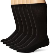 Hanes Men's 6 Pack X-Temp Arch Support Crew Socks, White, 10-13/Shoe Size 6-12