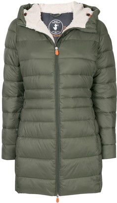 Save The Duck Fleece Long Hooded Puffer Jacket