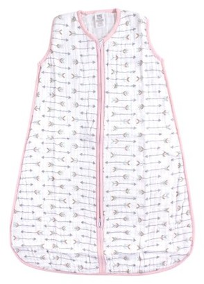 Luvable Friends Baby Boy and Girl Muslin Wearable Sleeping Bag, Girl Arrows, 0-6 Months