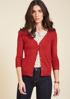 ModCloth Charter School Cardigan in Red in S
