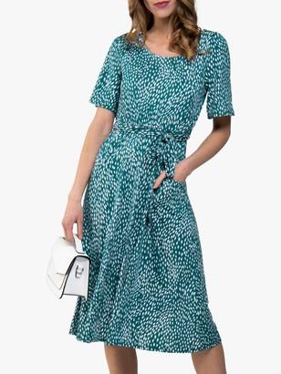 Jolie Moi Animal Print Dress, Green