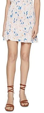 BCBGeneration Floral Smocked Mini Skirt