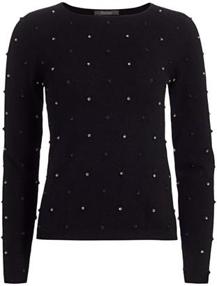 Max Mara Dolmen Embellished Wool & Cashmere Sweater
