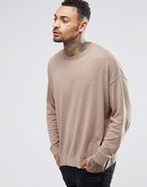 Asos Oversized Sweater in Beige Cotton