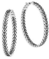 John Hardy Modern Chain Silver Medium Hoop Earrings/1.5