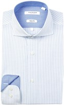 Isaac Mizrahi Twill Check Slim Fit Dress Shirt