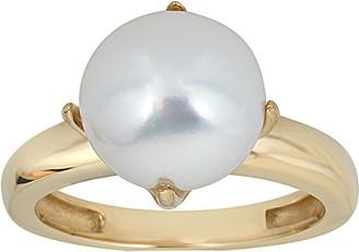BELPEARL 14K 9Mm Freshwater Pearl Ring