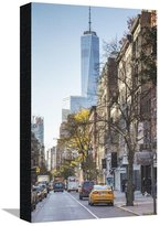 Art.com One World Trade Center from Soho, New York City, New York, USA Stretched Canvas Print By Jon Arnold - 30x46 cm