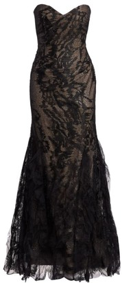 Rene Ruiz Collection Strapless Embellished Gown