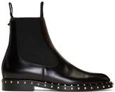 Valentino Garavani Valentino Black Rockstud Chelsea Boots