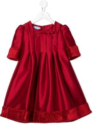 Mi Mi Sol Pleated Faux Fur Detail Dress