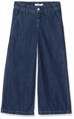 Name It Girls' Nkfbaculotta DNM 2234 Wide Ancle Trousers