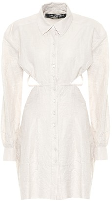 Jacquemus La Robe Cavaou Courte cotton-blend shirt dress