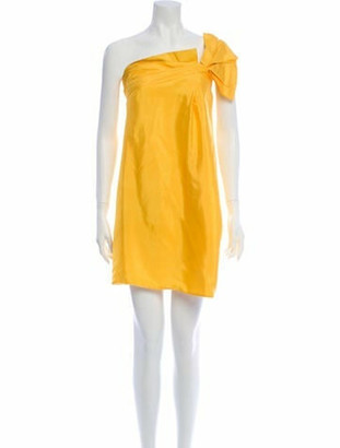 Gucci Sleeveless Midi Dress Yellow