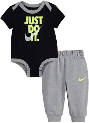 "Nike Baby Boy Just Do It"" Bodysuit & Jogger Pants Set"
