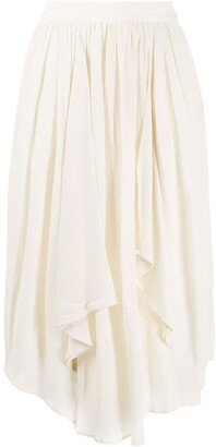 Isabel Marant Draped High-Waisted Skirt