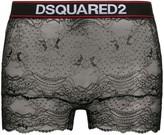 DSQUARED2 floral lace boxers