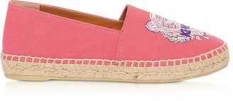 Kenzo Coral Canvas Tiger Head Embroidery Specail Fit Espadrillas