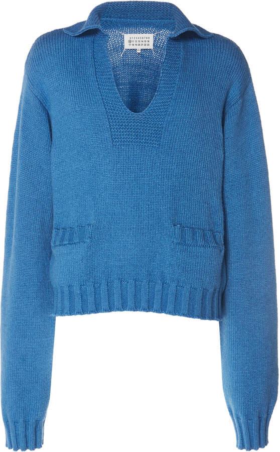 Maison Margiela Rib-Knit Cotton-Blend Sweater