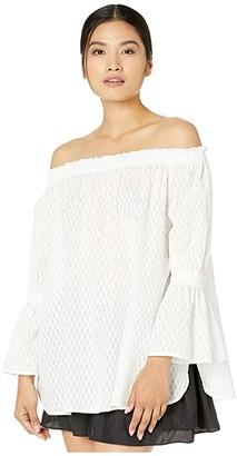 Fuzzi Off-the-Shoulder Dot Top (Cocco) Women's Blouse