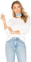White + Warren Crew Neck Sweater in White