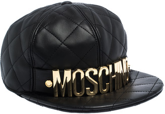Moschino Quilted Leather Baseball Cap M