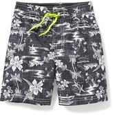 Old Navy Tropical-Print Swim Trunks for Toddler Boys