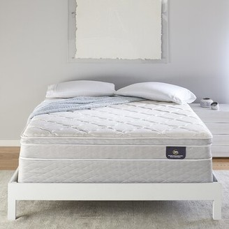 "Serta 8"" Plush Innerspring Mattress and Box Spring Mattress Size: Full, Box Spring Height: Standard Profile (9"")"