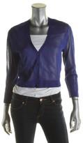 Lauren Ralph Lauren Womens Sheer Cropped Cardigan Sweater