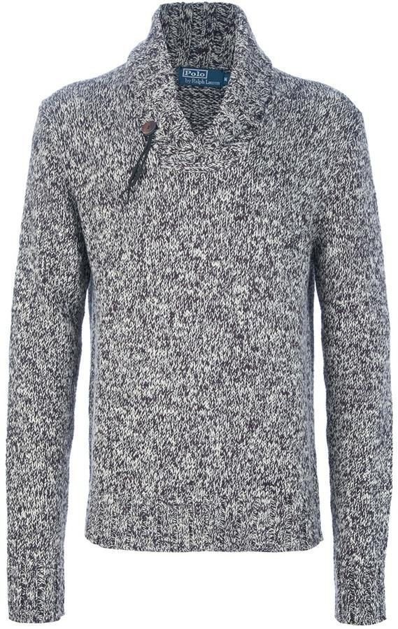Ralph Lauren Blue Cowl neck sweater
