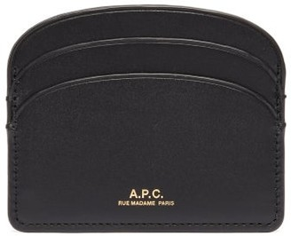 A.P.C. Half Moon Leather Cardholder - Black