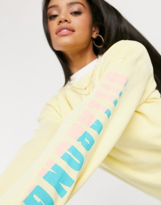 Billabong Wave Washed beach jumper in yellow