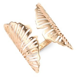 ginette_ny 18K Rose Gold Ginkgo Ring