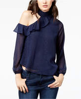 ASTR the Label Lulu One-Shoulder Ruffled Top