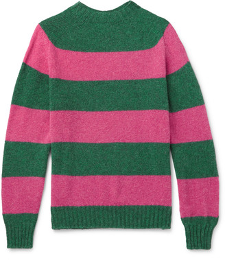 Drakes Aime Leon Dore - + Drake's Striped Wool Sweater - Pink