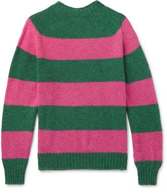 Drakes + Drake's Striped Wool Sweater