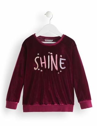 Amazon Brand - RED WAGON Girl's Velvet Sweatshirt