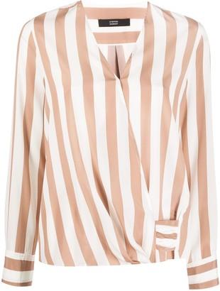 Steffen Schraut Striped Silk Blouse